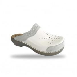 Női papucs  - klumpa D99 Bianco