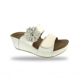 Női papucs - divat papucs D139 Bianco