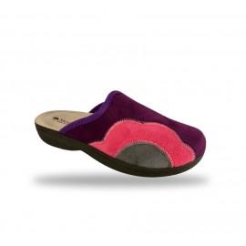 Női komfort papucs - textil 425F Violet