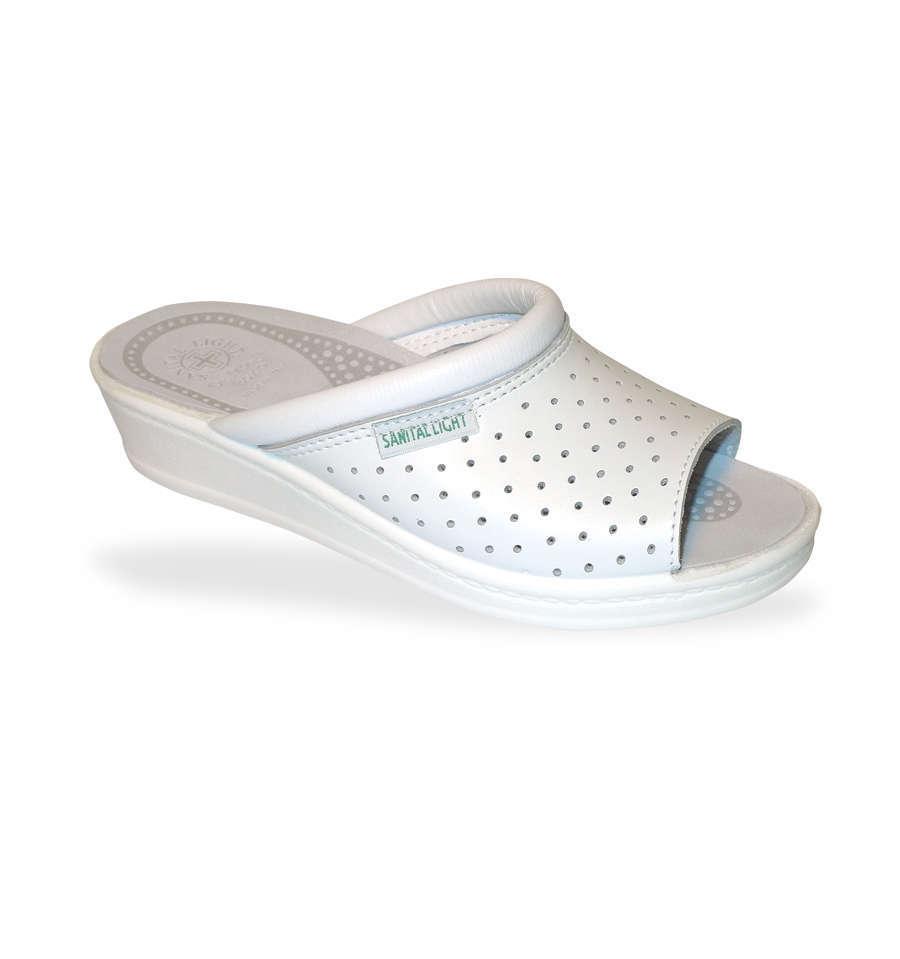 DrMonteBosco nyitott orrú komfort klumpa 351 Bianco