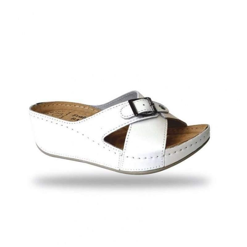 Női papucs - divat papucs D110 Bianco
