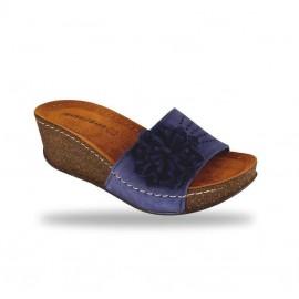 Női papucs - divat papucs D163 Blu