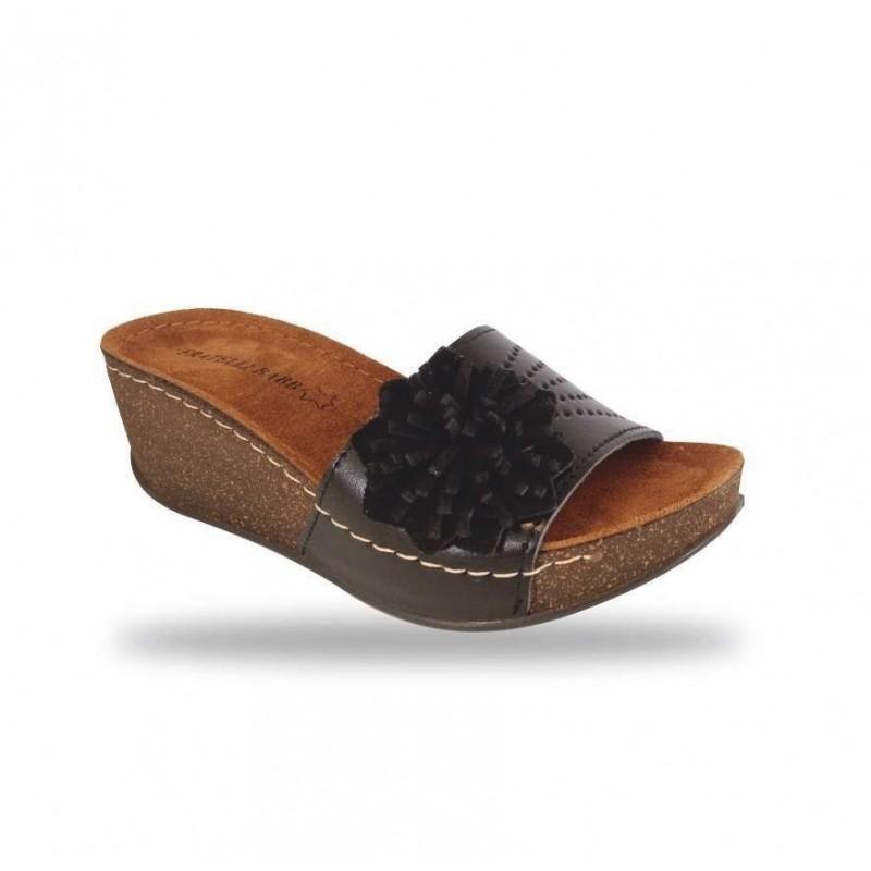 Női papucs - divat papucs D163 Nero