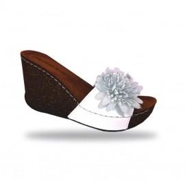 Női papucs - divat papucs D150 Bianco