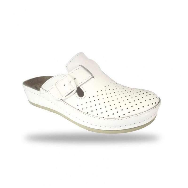 Női papucs - komfort klumpa D134 Bianco