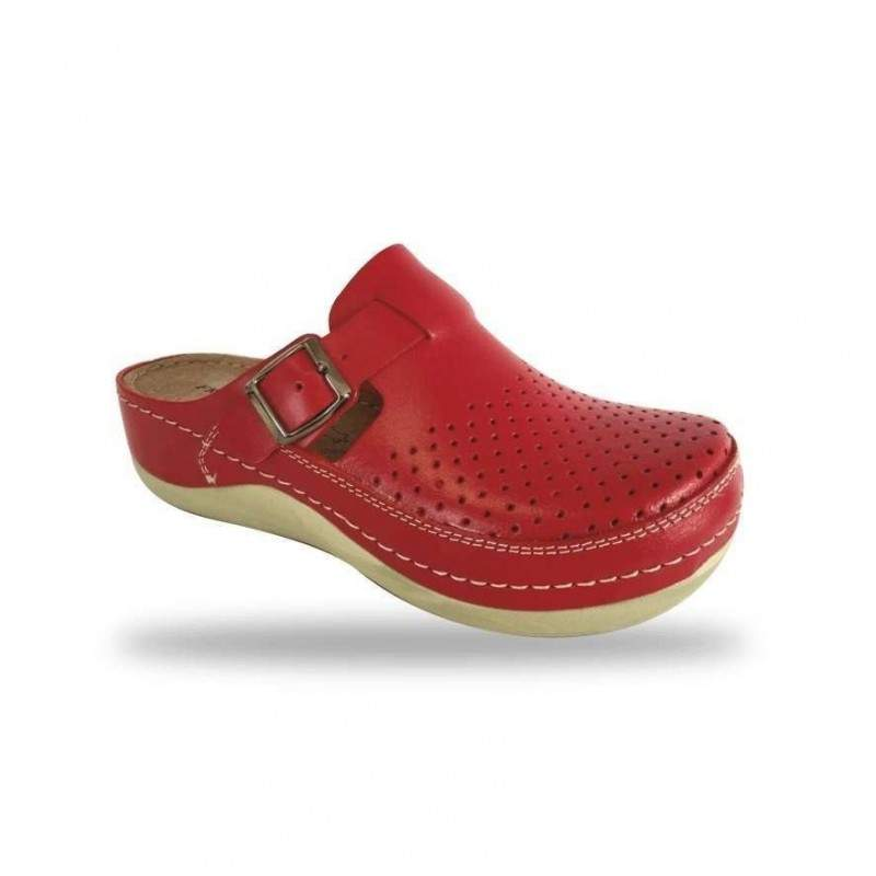 Női papucs - komfort klumpa D300 Rosso
