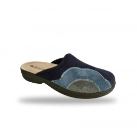 Női komfort papucs - textil 425F Blu