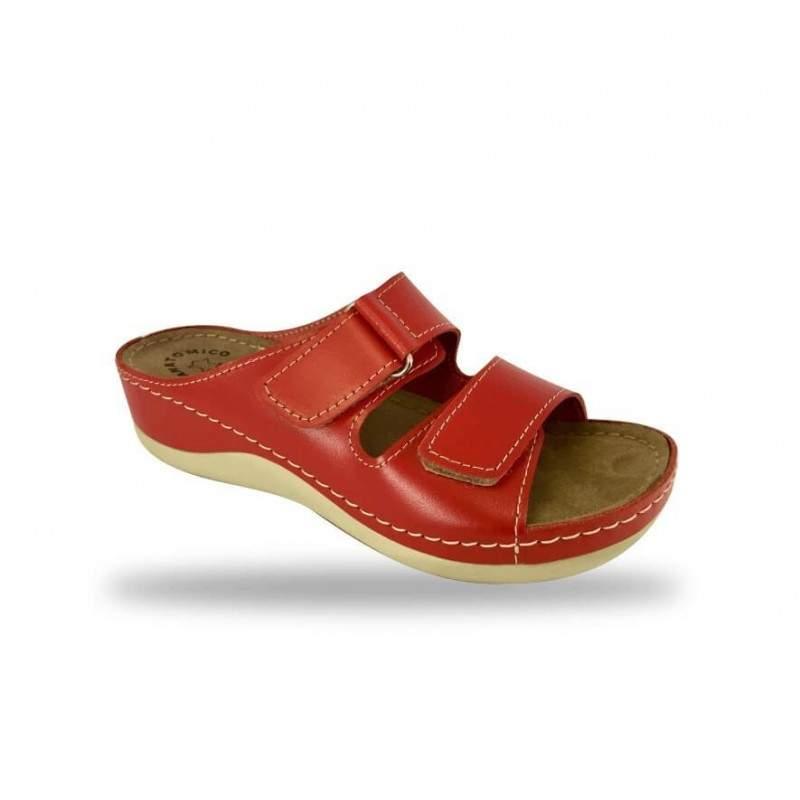 Női papucs - komfort papucs D303 Rosso
