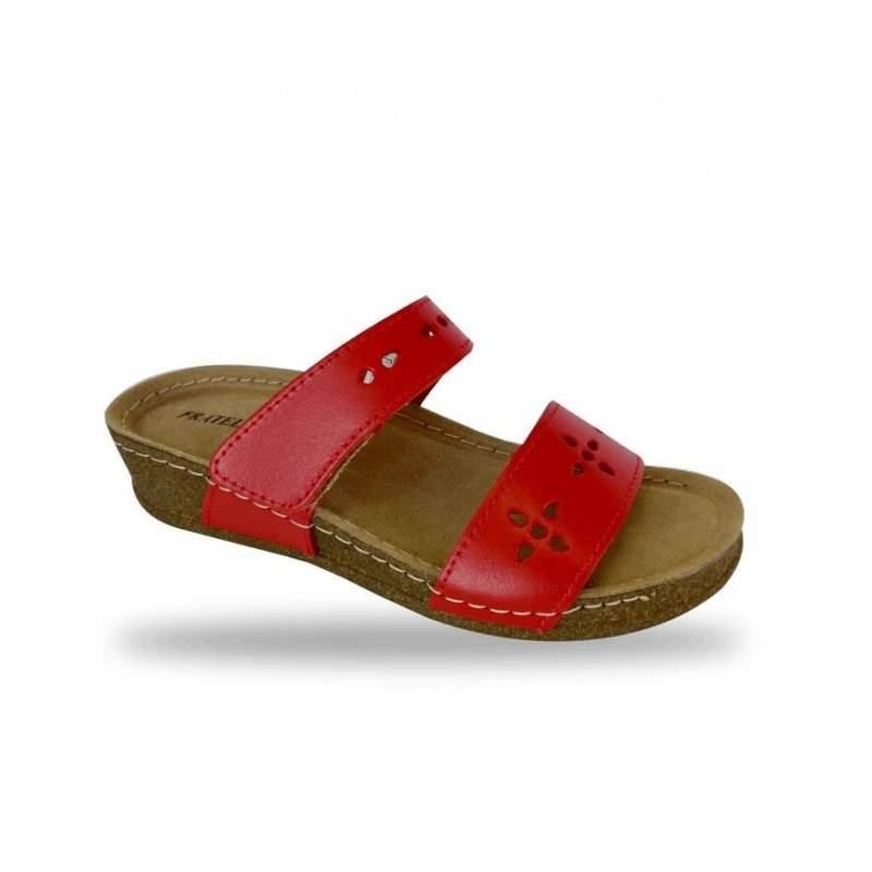 Női papucs - divat papucs D191 Rosso