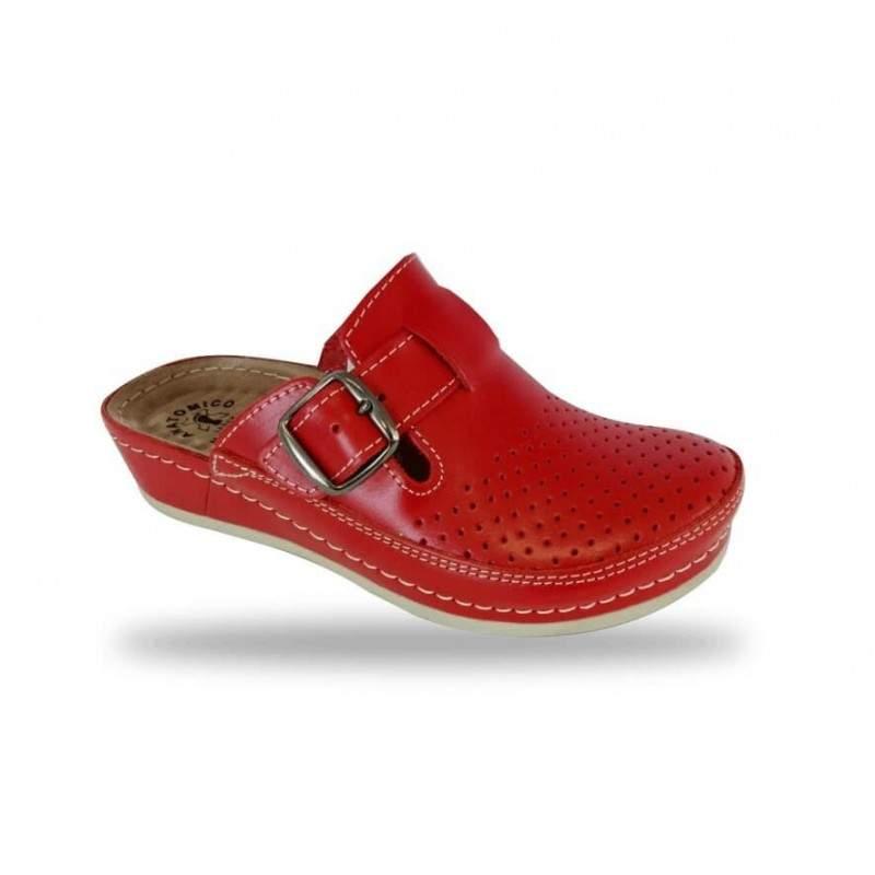 Női papucs - komfort klumpa D134 Rosso