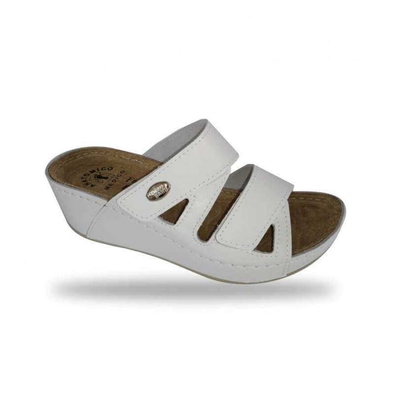 Női papucs - divat papucs D108 Bianco