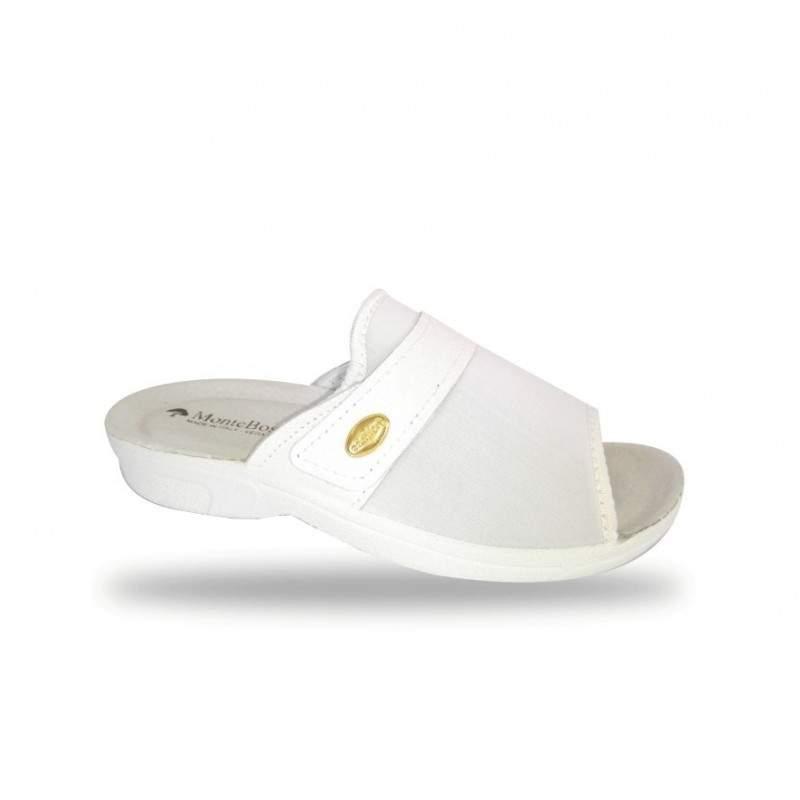 Női kímélő komfort papucs 1416 Bianco