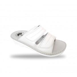 Női fehér anatómiai papucs B09 Bianco