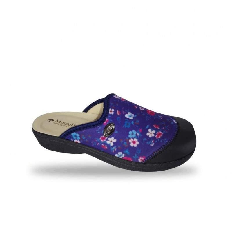 Női elasztikus kímélő komfort papucs 453 Blu
