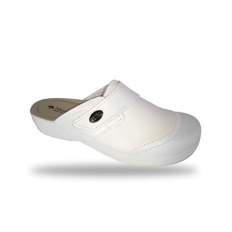 Női elasztikus kímélő komfort papucs 1468 Bianco