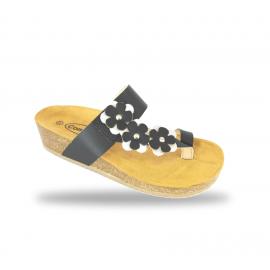 Női divat papucs - comfort papucs 35S Nero