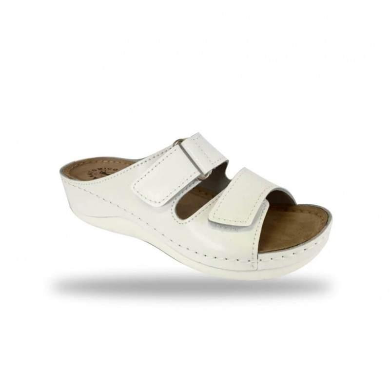 Női papucs - komfort papucs D303 Bianco