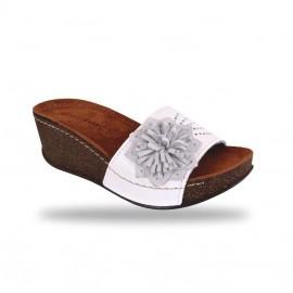 Női papucs - divat papucs D163 Bianco