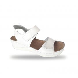 Női komfort szandál D302 Bianco
