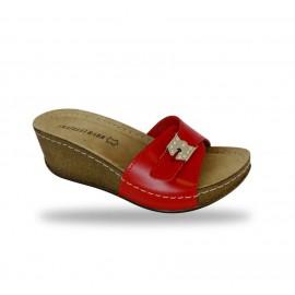 Női papucs - divat papucs D161 Rosso